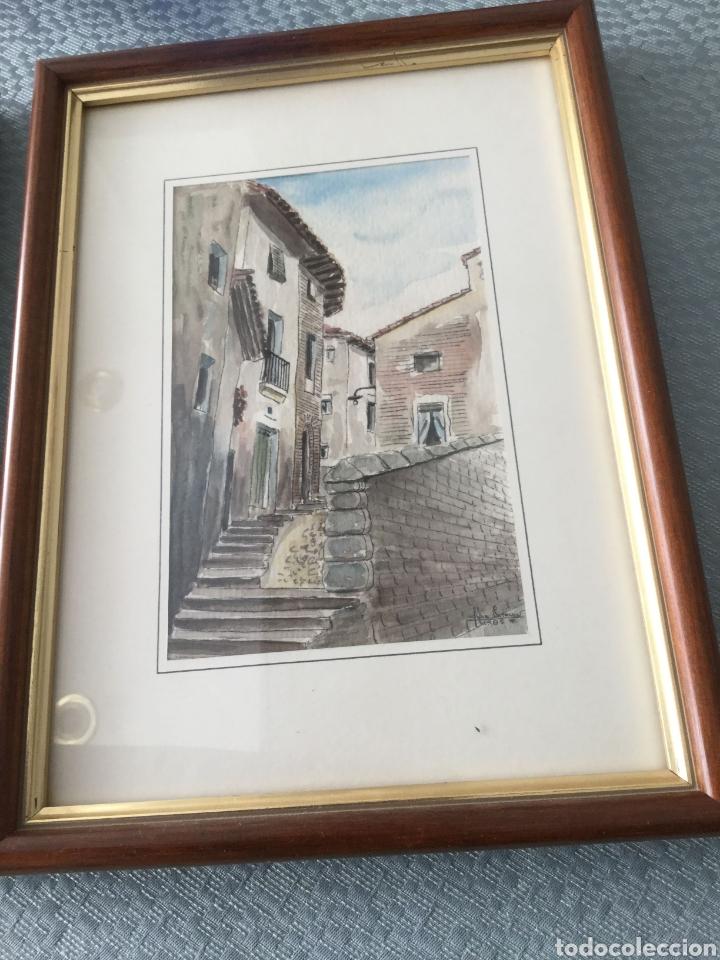 Arte: Dos cuadros pintados a plumilla firmados por el autor - Foto 3 - 216364788