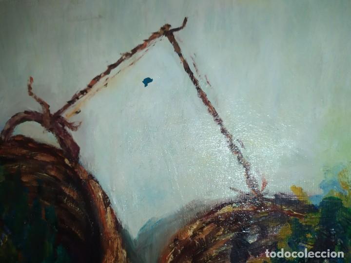 Arte: ÓLEO SOBRE LIENZO BODEGÓN FLORES FIRMADO R BUENA? BUENO? CANASTILLAS CESTAS PRECIOSO SIN MARCO - Foto 6 - 216524412