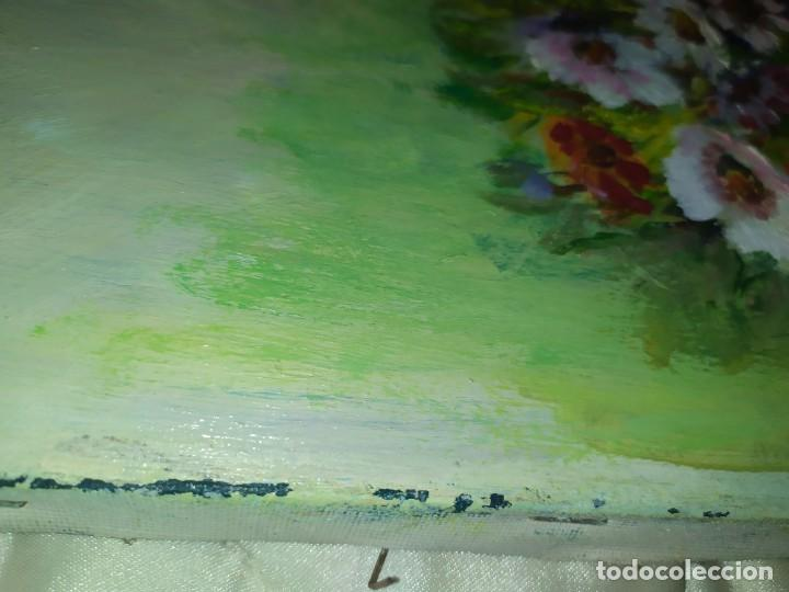 Arte: ÓLEO SOBRE LIENZO BODEGÓN FLORES FIRMADO R BUENA? BUENO? CANASTILLAS CESTAS PRECIOSO SIN MARCO - Foto 15 - 216524412