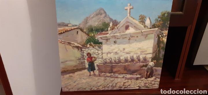 Arte: Cuadro ,oleo sobre tabla de cartón piedra ,firmado Rodriguez Cabas, - Foto 2 - 216572207