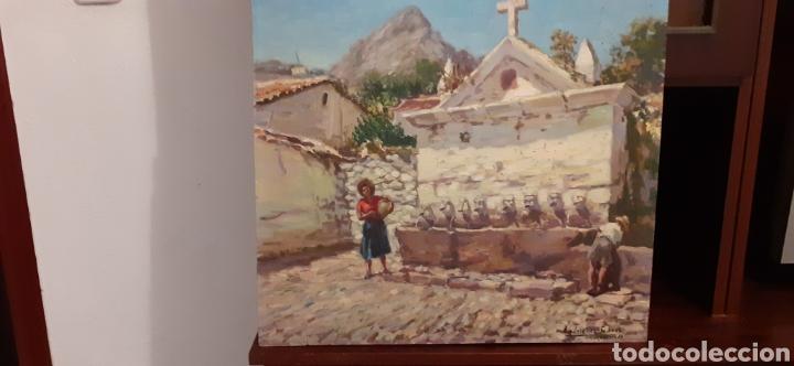 Arte: Cuadro ,oleo sobre tabla de cartón piedra ,firmado Rodriguez Cabas, - Foto 3 - 216572207