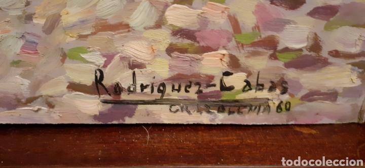 Arte: Cuadro ,oleo sobre tabla de cartón piedra ,firmado Rodriguez Cabas, - Foto 4 - 216572207