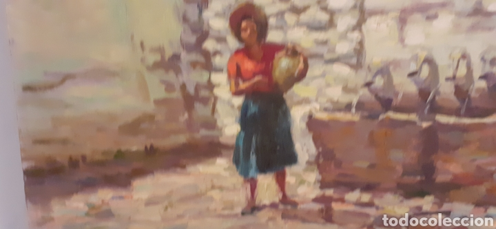 Arte: Cuadro ,oleo sobre tabla de cartón piedra ,firmado Rodriguez Cabas, - Foto 7 - 216572207