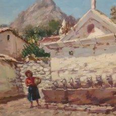 Arte: CUADRO ,OLEO SOBRE TABLA DE CARTÓN PIEDRA ,FIRMADO RODRIGUEZ CABAS,. Lote 216572207