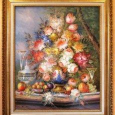 Arte: ROBERTO MICHEL - BARCELONA 1.944 ÓLEO SOBRE LIENZO - NATURALEZA MUERTA GRAN FORMATO. Lote 194107435