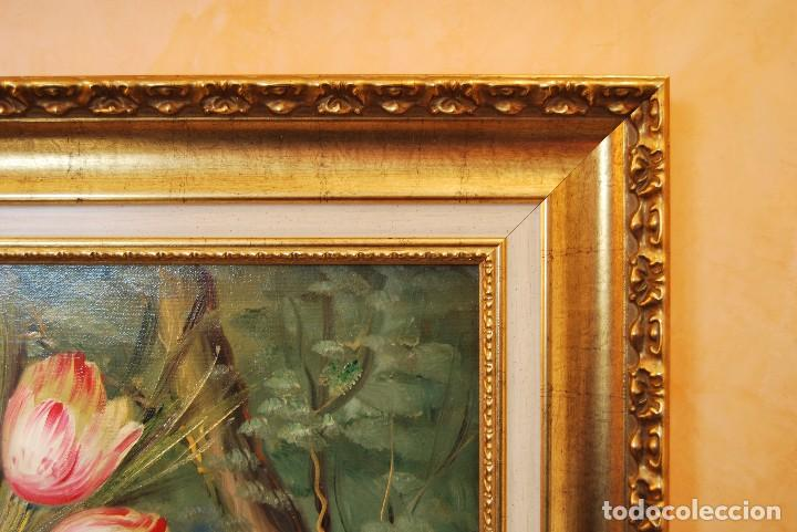 Arte: Roberto Michel - Barcelona 1.944 Óleo sobre Lienzo - Naturaleza Muerta Gran Formato - Foto 9 - 194107435