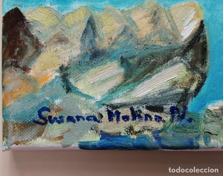 Arte: Cuadro pintura óleo sobre tela, marina, firmado. - Foto 2 - 216776796