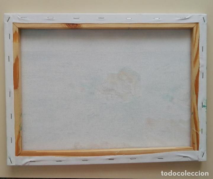 Arte: Cuadro pintura óleo sobre tela, marina, firmado. - Foto 3 - 216776796