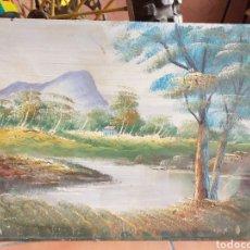Arte: BONITA PINTURA PAISAJE,EN MADERA O FULLOLA. Lote 216847312