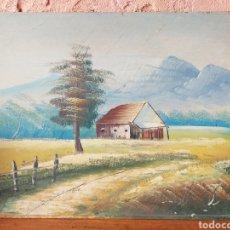 Arte: BONITA PINTURA MASIA Y CAMPO,EN MADERA O FULLOLA. Lote 216848435