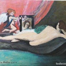 Arte: CUADRO, PINTURA ÓLEO SOBRE TELA, VENUS CON ESPEJO.. Lote 216880892