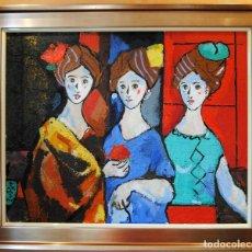 Arte: MIGUEL TORNER DE SEMIR SANTA PAU GIRONA 1938 LAS TRES SENYORAS. Lote 216884475