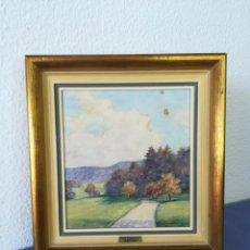 Arte: PAISAJE EN OLEO DE JAKOB SIEGENTHALER 1884 - 1969 (SUIZA) CON CERTIFICADO. Lote 216886117