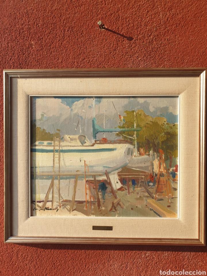 CASANE PUIG. ASTILLEROS PALMA 7/83. (Arte - Pintura - Pintura al Óleo Contemporánea )