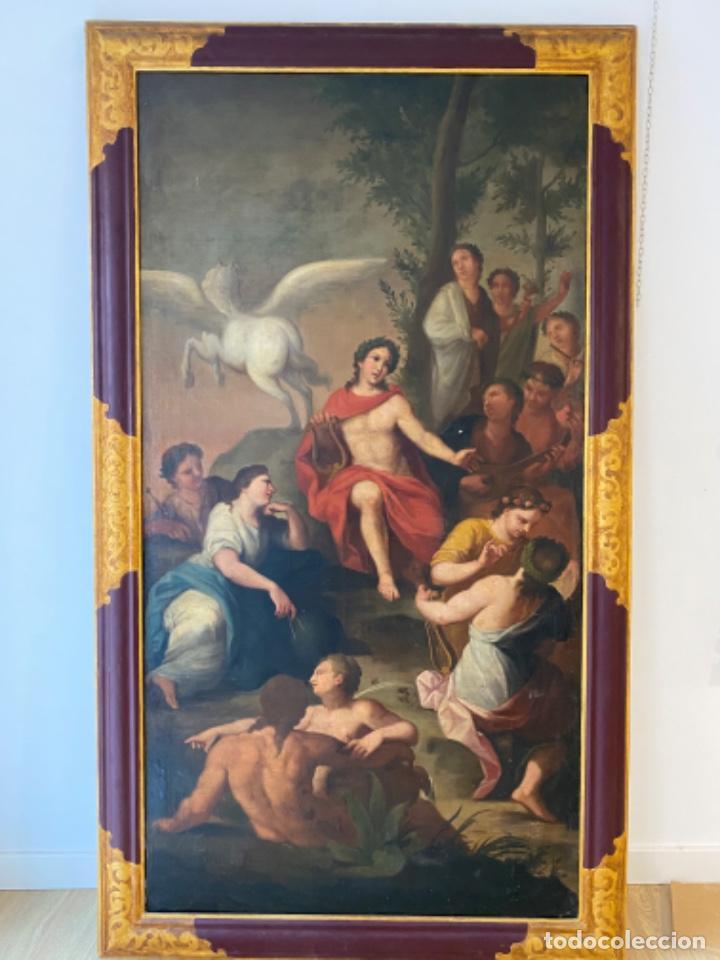 CUADRO FINALES XVIII ALEGORIAS (Arte - Pintura - Pintura al Óleo Antigua siglo XVIII)