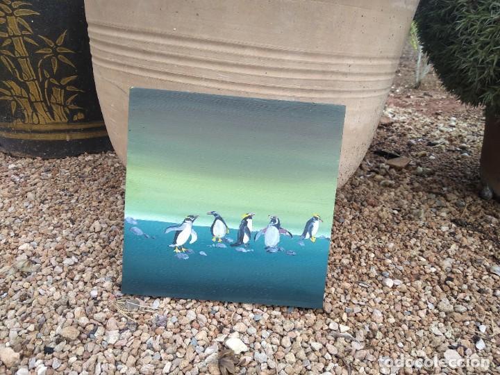 Arte: pintura pinguinos - Foto 2 - 216996817