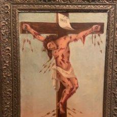 Arte: CRUCIFIXIÓN DEL SIGLO XVIII (CÍRCULO DE MARIANO BRANDI). Lote 217043818