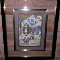 Arte: CUADRO PINTADO A MANO CON ESCENA DE LA INDIA. Lote 217101556
