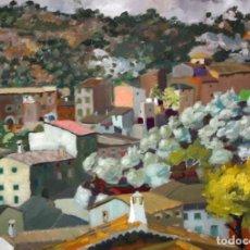 Art: LLUIS ANDREU ALCOVER (PALMA DE MALLORCA, 1908 - 1982) OLEO TELA. VISTA DE UN PUEBLO. 60 X 81 CM.. Lote 217165646
