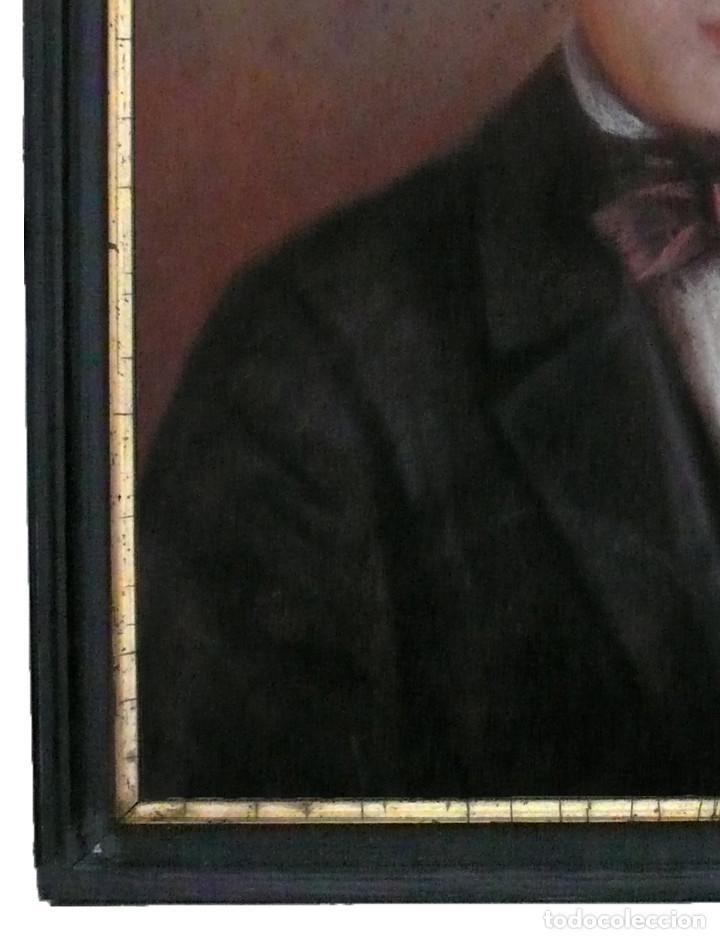 Arte: PORTRAIT PASTEL XIX YOUNG MAN BOY RETRATO ESCUELA ESPAÑOLA CATALANA HOMBRE CHICO JOVEN - Foto 5 - 217168932