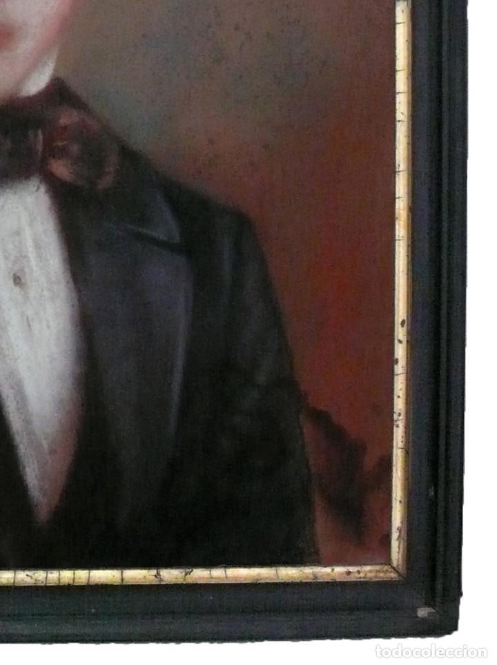 Arte: PORTRAIT PASTEL XIX YOUNG MAN BOY RETRATO ESCUELA ESPAÑOLA CATALANA HOMBRE CHICO JOVEN - Foto 6 - 217168932