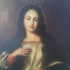Arte: MAGNIFICA PINTURA OLEO SOBRE LIENZO DE SIGLO XVII,DE ESCUELA ANDALUZA,MANO MAESTRA,VIRGEN. Lote 217212286