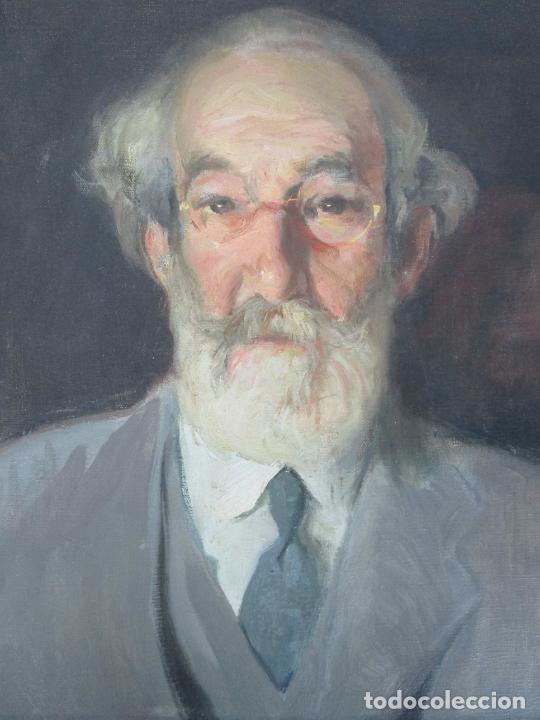 Arte: Armand Miravalls Bové (Barcelona 1916-1978) - Óleo sobre Tela - Retrato - Juliol 1945, Argentona - Foto 2 - 217232367