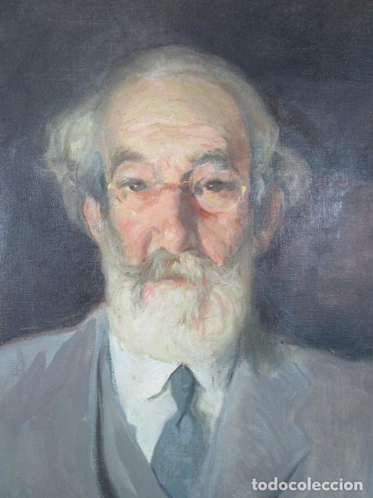 Arte: Armand Miravalls Bové (Barcelona 1916-1978) - Óleo sobre Tela - Retrato - Juliol 1945, Argentona - Foto 3 - 217232367