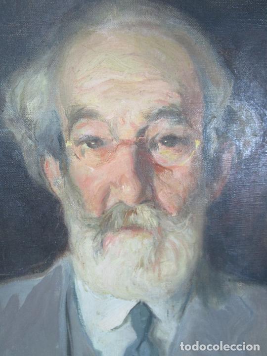 Arte: Armand Miravalls Bové (Barcelona 1916-1978) - Óleo sobre Tela - Retrato - Juliol 1945, Argentona - Foto 4 - 217232367