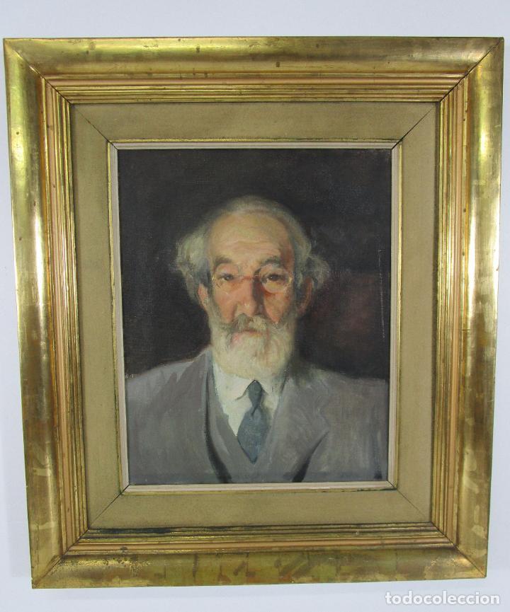 Arte: Armand Miravalls Bové (Barcelona 1916-1978) - Óleo sobre Tela - Retrato - Juliol 1945, Argentona - Foto 5 - 217232367