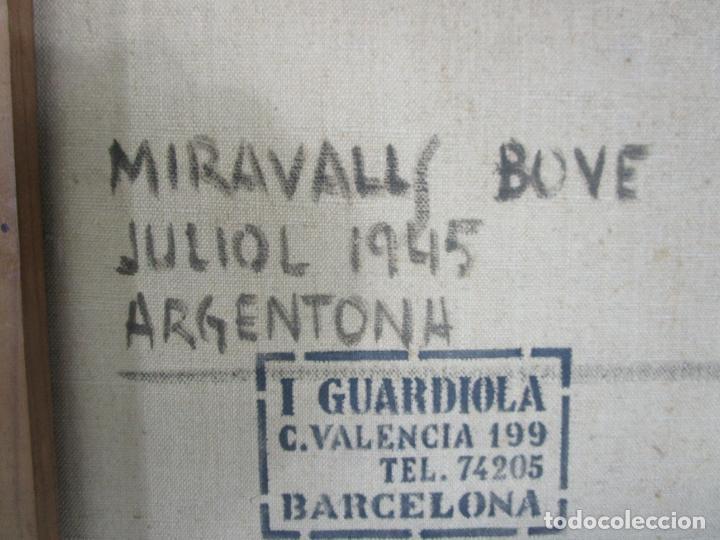 Arte: Armand Miravalls Bové (Barcelona 1916-1978) - Óleo sobre Tela - Retrato - Juliol 1945, Argentona - Foto 9 - 217232367