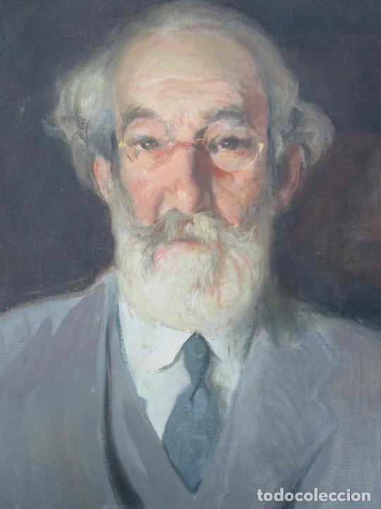 Arte: Armand Miravalls Bové (Barcelona 1916-1978) - Óleo sobre Tela - Retrato - Juliol 1945, Argentona - Foto 10 - 217232367