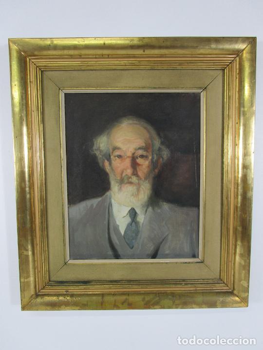 Arte: Armand Miravalls Bové (Barcelona 1916-1978) - Óleo sobre Tela - Retrato - Juliol 1945, Argentona - Foto 11 - 217232367
