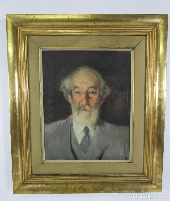 ARMAND MIRAVALLS BOVÉ (BARCELONA 1916-1978) - ÓLEO SOBRE TELA - RETRATO - JULIOL 1945, ARGENTONA (Arte - Pintura - Pintura al Óleo Moderna sin fecha definida)