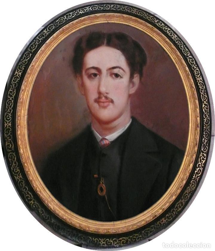 PORTRAIT PASTEL XIX YOUNG MAN BOY RETRATO ESCUELA ESPAÑOLA CATALANA HOMBRE CHICO JOVEN LEONTINA (Arte - Pintura - Pintura al Óleo Moderna siglo XIX)