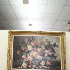 Arte: CUADRO BODEGÓN ANTIGUO CENTRO DE ROSAS. Lote 217267806