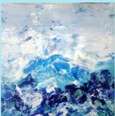 Arte: SANTIAGO GALLARDO,ROSENDO DE (C.REAL 1936-2013) GRAN MARINA IMPRESIONISTA OLEO S/LIENZO 82 X 100 CM.. Lote 217279925