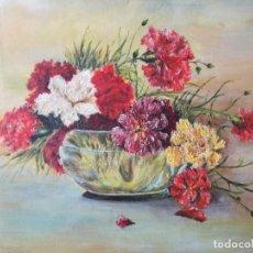 Arte: JOSE LLANAS SENESPLEDA (1887-1965) OLEO SOBRE LIENZO JARRON DE FLORES GALERIA SELECCIONES JAIMES. Lote 217369921