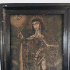 Arte: ÓLEO DEL SIGLO XVII - XVIII - ESCUELA ESPAÑOLA S. XVIII - SANTA TERESA - 81,5X65CM. Lote 217441610