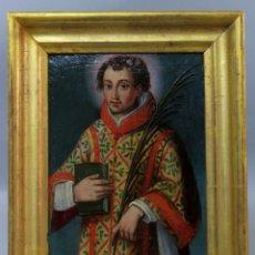 Arte: SAN LORENZO ÓLEO SOBRE TABLA ESCUELA SEVILLANA DE FINALES DEL SIGLO XVI. Lote 217441692