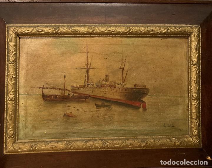 Arte: Pareja de marinas S XIX. Firmadas - Foto 12 - 99374559