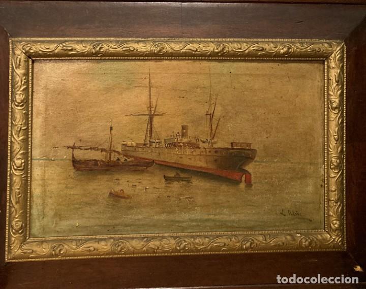 Arte: Pareja de marinas S XIX. Firmadas - Foto 13 - 99374559