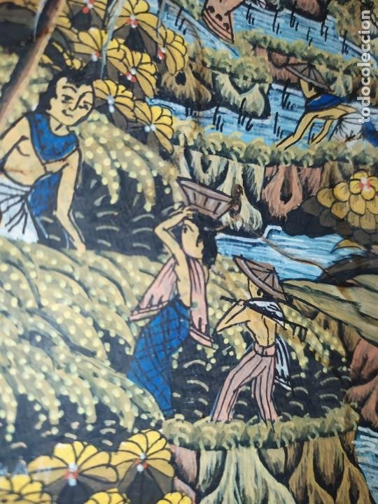 Arte: MD BAWA KUTUH SAYAN OLEO SOBRE LIENZO ESCENA PAISAJE BALINÉS INDONESIA BALINESA MUJERES LAGO BOSQUE - Foto 2 - 217489667