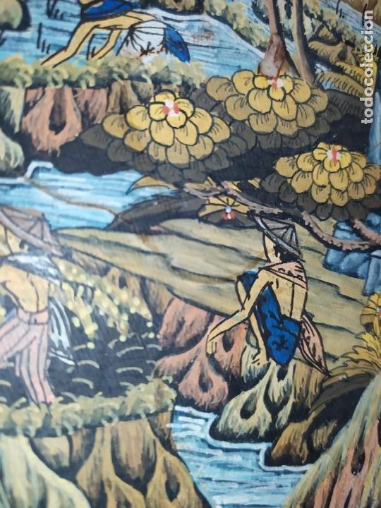 Arte: MD BAWA KUTUH SAYAN OLEO SOBRE LIENZO ESCENA PAISAJE BALINÉS INDONESIA BALINESA MUJERES LAGO BOSQUE - Foto 3 - 217489667