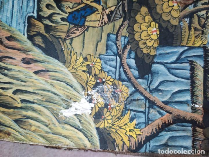 Arte: MD BAWA KUTUH SAYAN OLEO SOBRE LIENZO ESCENA PAISAJE BALINÉS INDONESIA BALINESA MUJERES LAGO BOSQUE - Foto 4 - 217489667