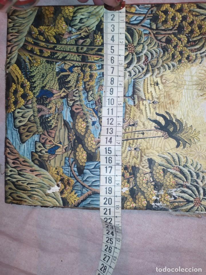 Arte: MD BAWA KUTUH SAYAN OLEO SOBRE LIENZO ESCENA PAISAJE BALINÉS INDONESIA BALINESA MUJERES LAGO BOSQUE - Foto 5 - 217489667
