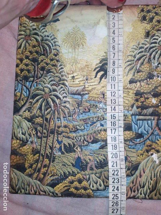Arte: MD BAWA KUTUH SAYAN OLEO SOBRE LIENZO ESCENA PAISAJE BALINÉS INDONESIA BALINESA MUJERES LAGO BOSQUE - Foto 7 - 217489667
