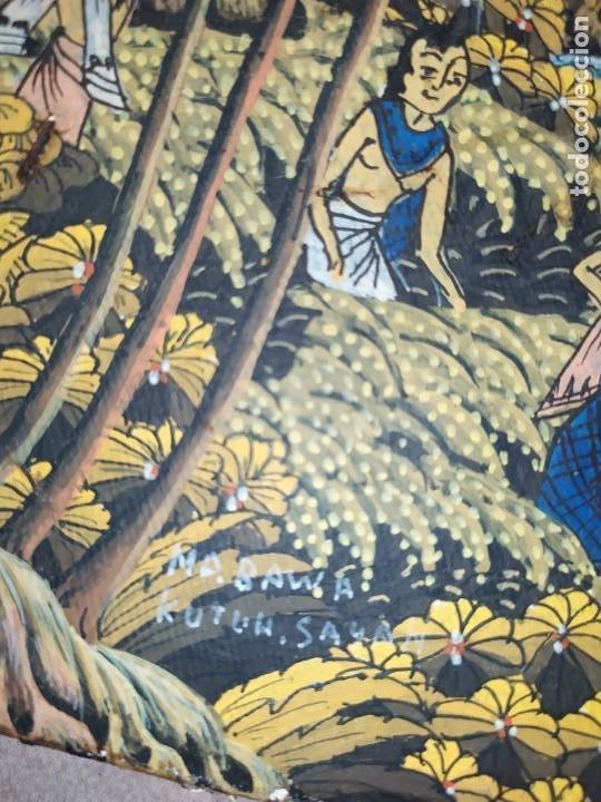 Arte: MD BAWA KUTUH SAYAN OLEO SOBRE LIENZO ESCENA PAISAJE BALINÉS INDONESIA BALINESA MUJERES LAGO BOSQUE - Foto 27 - 217489667