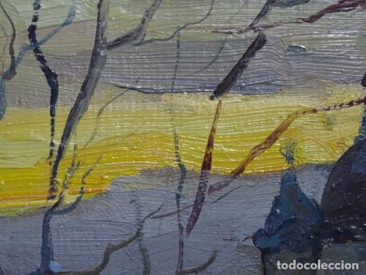 Arte: Excelente óleo sobre cartón de firma ilegible.maestro. - Foto 6 - 217491852
