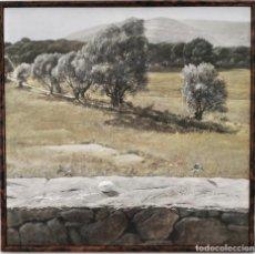 Arte: CUADRO JOSÉ JOSEP BERRUEZO TAPIA Y PAISAJE RURAL EN VERANO TABLA HIPERREALISTA 1980 AÑOS 80. Lote 217510526